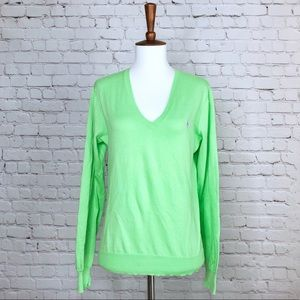 Ralph Lauren Green V-Neck Sweater